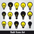 Light bulbs  Bulb icon set — Stock Vector