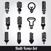 Light bulbs Bulb icon set — Vector de stock