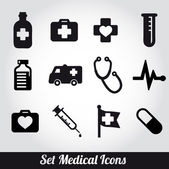 Set of medical icons -Vector illustration — Stock Vector