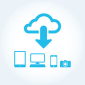 Cloud app icon on mobile phone vector icons set — Stockvector