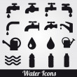 Water related icons set. — Stock Vector #26249199