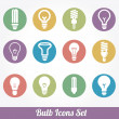 Vector de stock : Light bulbs. Bulb icon set