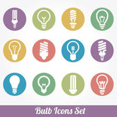 Light bulbs. Bulb icon set — Stock Vector