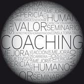 Coaching concept verwante woorden in de wolk van de markering — Stockvector