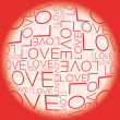 Stock Vector: Love word collage