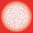 Love word collage — Stock Vector #26612441