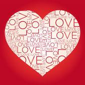αγάπη λέξη κολάζ — Διανυσματικό Αρχείο