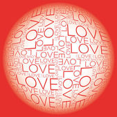 Love word collage — Stock Vector