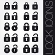 Lock icons set — Stock Vector #27560687