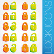 Lock icons set — Stock Vector