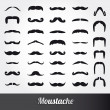 Set of mustache vector — Stock Vector