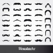 Stock Vector: Set of mustache vector