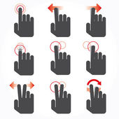 Gesture icons for touch devices — Stock Vector