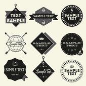 Set of vintage styled design Hipster logo — Stock Vector
