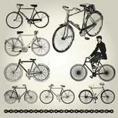 Bicycle retro Vector — Stock Vector