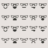 Set smileys emoticons vector — Stock Vector