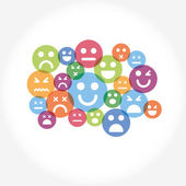 Social network internet chat community communication — Vector de stock
