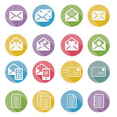 Set of mail icons vector — Stock Vector