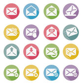 Set of mail icons vector — ストックベクタ