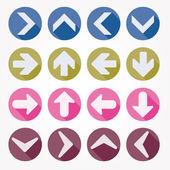 Arrow icons vector illustration shadow — Stock Vector