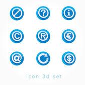 Set of icons 3d vector illustration — Vetor de Stock