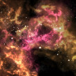 Orion in the universe with star background - 图库照片