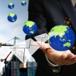 Globle investment funds investment in real estate, Wold property develpment concept — Stock Photo