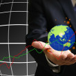Stock Photo: Global economy growth up chart concept