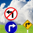 Do not turn left, Please turn right — Stock Photo #13247740