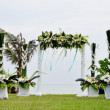 Stock Photo: Floral arch for wedding ceremony