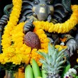 Ganesha figure with offering — Stock Photo