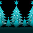 Stock Photo: Colorful Christmas tree for greeting card
