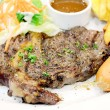 Lamb steak with black pepper — Stok fotoğraf