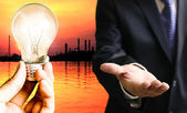 Investor need energy concept — Stock Photo