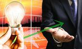 Crecimiento de tendencia de consumo de energía — Foto de Stock