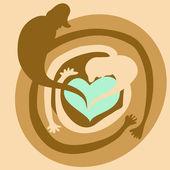 Proteggere il nostro amore, il concetto di famiglia — Foto Stock