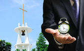 Time to go to church — Stock Photo
