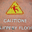 Stock Photo: Caution slippery floor