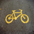 Stock Photo: Bike lanes, Bicycle symbol