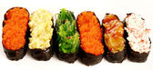 Sushi geïsoleerde instellen — Stockfoto
