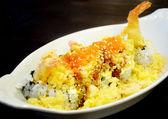天ぷら、シャキッとしたエビ米します。 — ストック写真