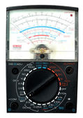 Analog multimeter isolated — Stock Photo