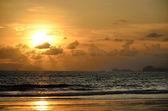 Sunset sky at Ao yai, Payam island — Stock Photo