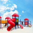 Stock Photo: Colorful children s playground on cloud