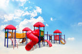 Colorful children s playground on the cloud — Stock Photo
