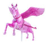 Rosa perseus pferd statue isoliert — Stockfoto