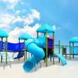 Stock Photo: Colorful children's playground on clouds