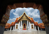 Wat Benchamabophit, The marble temple of Buddhism in Bangkok, Thailand — ストック写真