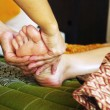 Stock Photo: Foot massage, Reflexology concept