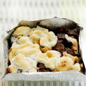Brownie with Marshmallows topping — Stock Photo